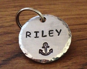 dog tags for dogs, custom id tag, anchor pet tag, pet id tag, nautical pet tag, dog tags, anchor dog tag, dog collar tag, dog id tags