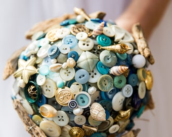 Button bouquet 'lifes a beach'