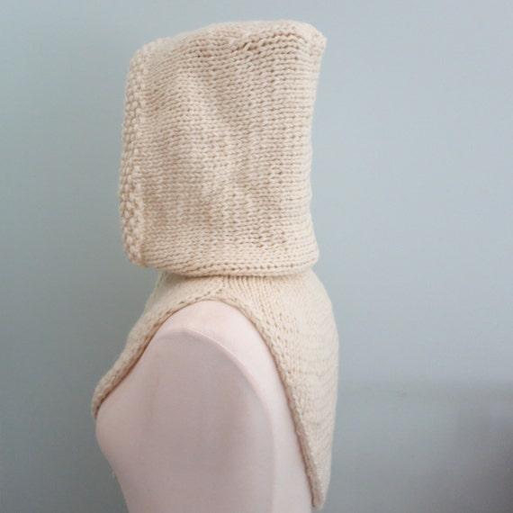 Hoodie Knitting Pattern Hood and Cowl Bandana Cowl Hat