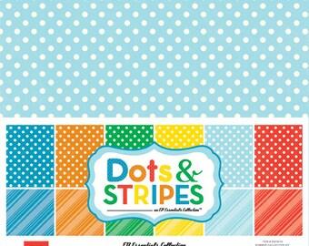 Echo Park Paper DOTS & STRIPES Summer 12x12 Scrapbook Paper Collection Kit (DS15015)
