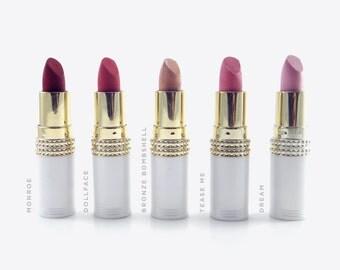 Lipstick Set, Handmade Lipstick, Moisturizing Lipstick, Cosmetics Set, Handmade Cosmetics, Natural Cosmetics, Pink Lipstick, Red Lipstick