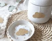 Tea Bags Cloud Shaped (5) - golden and sparkle - breakfast - zen