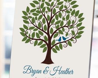Wedding Tree Guestbook - 16x20 - Wedding Signature Tree, Wedding Guestbook, Wedding Tree, Signature Tree - 85 Guests