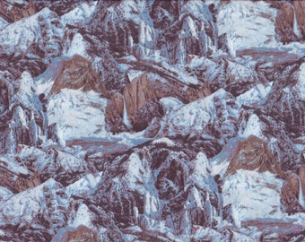 Blue Mountain Rocks, 100% Cotton Fabric Sold by Half Yard (21166)