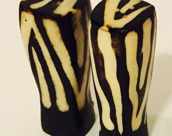 African Bone Salt and Pepper Shakers- Handmade in Kenya