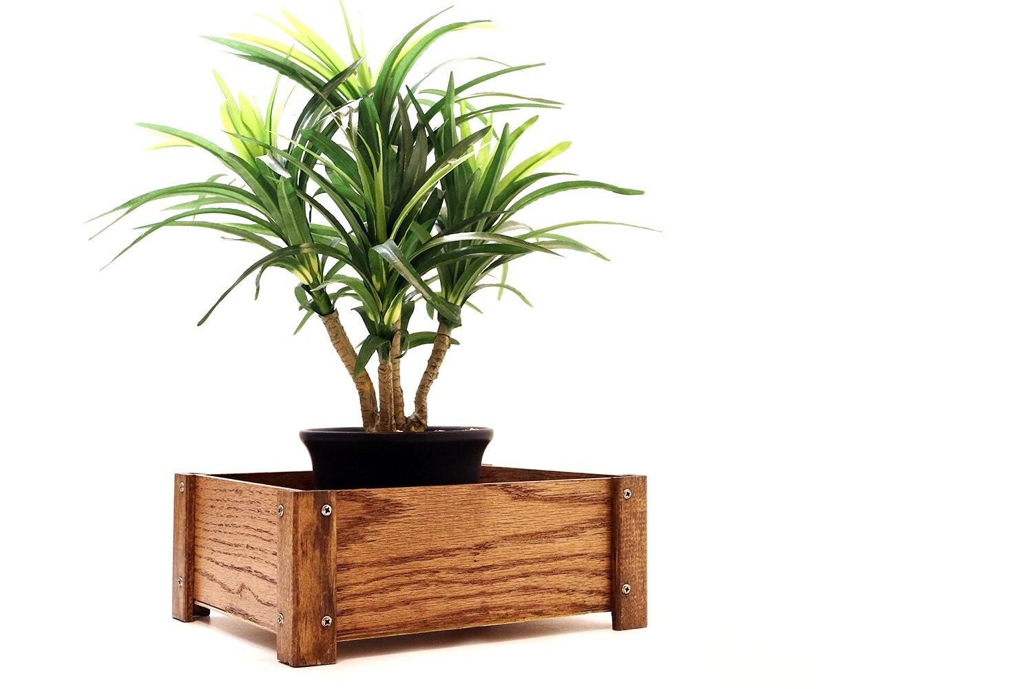 Amazing photo of Plant Stand Planter Storage Box Desk Organizer by WoodWarmth with #7D4124 color and 1500x1000 pixels