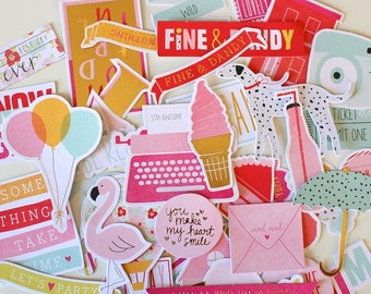 Dear Lizzy Fine & Dandy Cardstock Die-Cuts With Gold Foil Accents