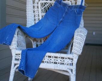 Levi's Ladies'  High Waisted Denim Jeans, Soft, Washed Out Blue, Elastic Waist, Zipper, Vintage