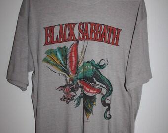 Rare Vintage Black Sabbath 1986 Tour T-shirt