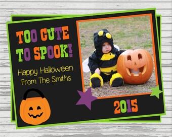 Halloween Custom DIGITAL Photo Card