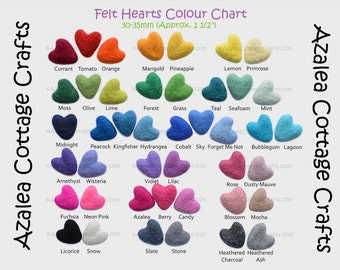 Custom Felted Heart Garland - You Choose the Colours, Custom Party Decor, Kids Room Bunting, Custom Nursery Decor, Boys Room, Girls Room