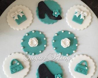 Elegant Cupcake Fondant Toppers