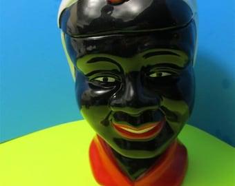 Ceramic Black Americana Mammy Aunt Jemima Cookie Jar Figurine