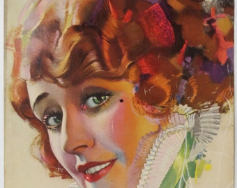 Original March 1922 Olga Petrova Photoplay Magazine Cover By Rolf Armstrong - Hollywood's Golden Age - Free Shipping