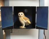 Shrine Box with Barn Owl