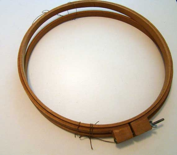 Wooden embroidery hoops vintage by