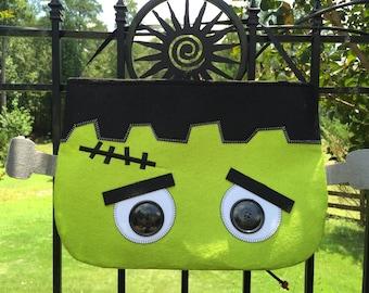NEW!!! Personalized Frankenstein Halloween Candy Bag Door Hanger