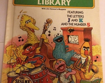 Library J,K,5 - Sesame Street iPad case/stand/cover (2/3/4 & iPAD AIR)