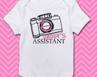 Daddy's Assistant Camera - Baby Onesie