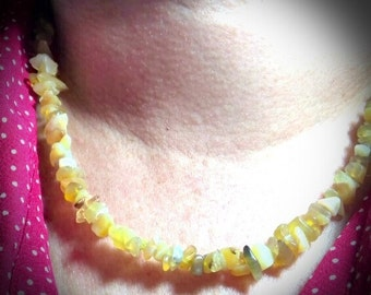 Necklace made with Yellow opal