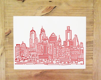 One Line Abstract Philly Digital Print