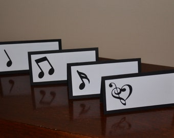 Music Place Cards / Food Tents - Music Birthday Party - Set of 12