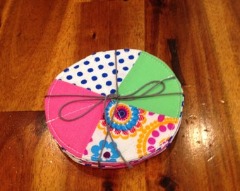 Bright Coasters- Set of Four