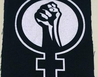 FEMINIST PRIDE riot grrl patch goth horror punk Free Shipping