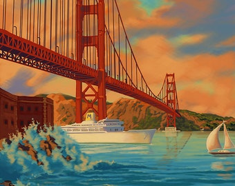 Golden Gate San Francisco (Art Prints available in multiple sizes)