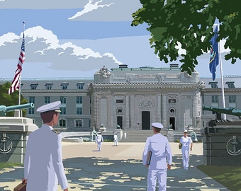 Bancroft Hall - United States Naval Academy - Annapolis, Maryland (Art Prints available in multiple sizes)