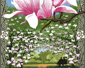 Magnolias (Art Prints available in multiple sizes)