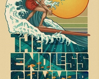 Huntington Beach, California - The Endless Summer - Underwater Scene (Art Prints available in multiple sizes)