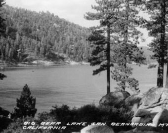 Big Bear Lake, CA View from San Bernardino Mnts Photograph (Art Prints available in multiple sizes)