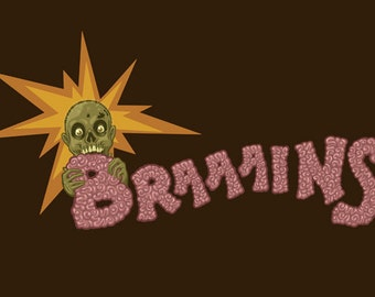 Zombie - Brains (Art Prints available in multiple sizes)