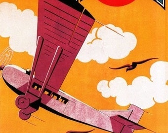 Farman Brothers Airlines F-170 Monoplane (Art Prints available in multiple sizes)