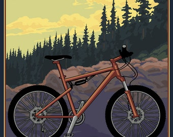 Adirondack Mountains, New York - Ride the Trails (Art Prints available in multiple sizes)