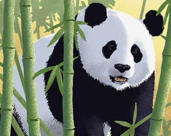Giant Panda - Lithograph Series (Art Prints available in multiple sizes)