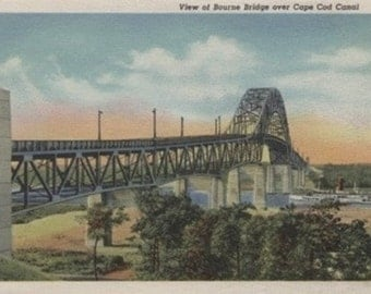 View of Bourne Bridge (Art Prints available in multiple sizes)