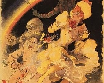 L'Arc-en-Ciel Ballet at Folies-Bergere Theatre (Art Prints available in multiple sizes)