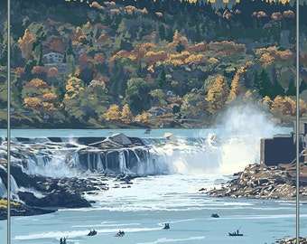 Willamette Falls - Oregon City, OR (Art Prints available in multiple sizes)