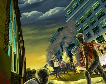 Zombie Apocalypse (Art Prints available in multiple sizes)