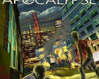 San Francisco Zombie Apocalypse (Art Prints available in multiple sizes)
