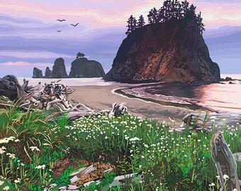 La Push, Washington Coast (Art Prints available in multiple sizes)