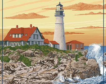 Portland Head Light - Portland, Maine (Art Prints available in multiple sizes)