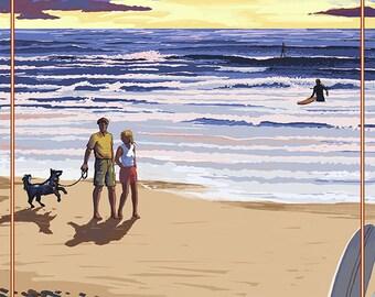Oregon Coast Scene at Sunset - Gearhart, Oregon (Art Prints available in multiple sizes)