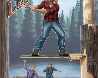 Washington Lumberjacks (Art Prints available in multiple sizes)