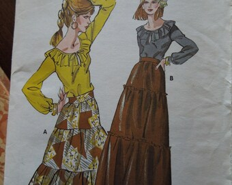 Kwik Sew 834, Sizes 12-14-16, misses, womens, teens, skirt, top, UNCUT sewing pattern, craft supplies