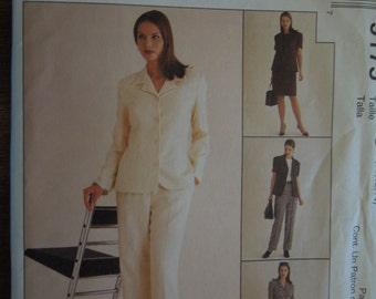 McCalls 9175, sizes varies, petite-able, misses, womens, jacket, top, pants, skirt, UNCUT sewing pattern, craft supplies