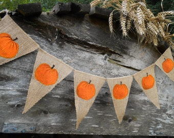 Pumpkin Banner Autumn Decor Pumpkin Garland Pumpkin Bunting Thanksgiving Banner Thanksgiving Bunting Thanksgiving Garland Thanksgiving Decor