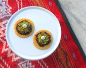 Mexican Beef Tostada with Lettuce, Tomatoes and Cheese - Handmade Gourmet Doll Food For Your American Girl Doll